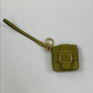 Tory Burch Small Green Wristlet